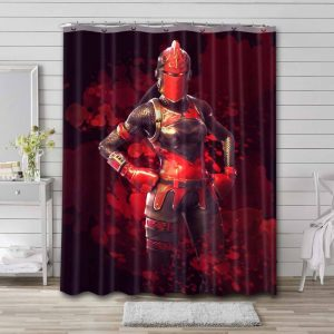 Fortnite Red Knight Shower Curtain Waterproof Polyester