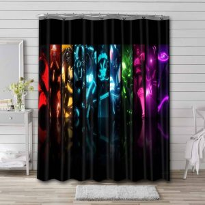 Fortnite Skins Characters Shower Curtain Bathroom Decoration