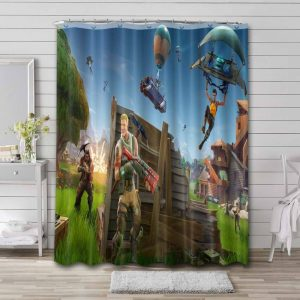 Fortnite Shower Curtain Waterproof Polyester