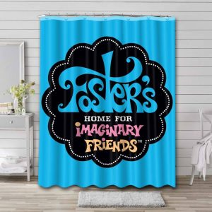 Foster's Home for Imaginary Friends Waterproof Curtain Bathroom Shower