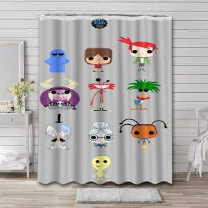 Foster's Home for Imaginary Friends Characters Shower Curtain Bathroom Waterproof