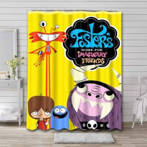 Foster's Home for Imaginary Friends Characters Shower Curtain Bathroom Decoration
