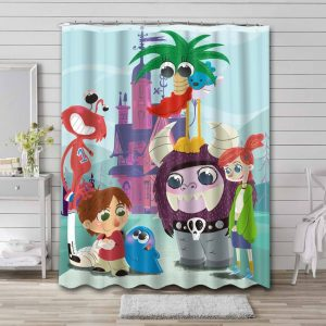 Foster's Home for Imaginary Friends Shower Curtain Waterproof Polyester
