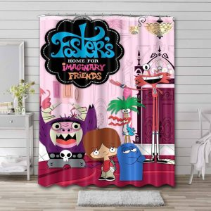 Foster's Home for Imaginary Friends Bathroom Shower Curtain Waterproof