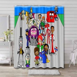 Foster's Home for Imaginary Friends Waterproof Shower Curtain Bathroom