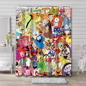 Foster's Home for Imaginary Friends Characters Bathroom Curtain Shower Waterproof