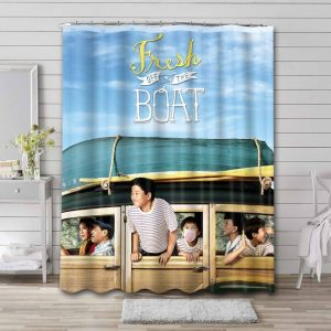 Fresh Off the Boat Shower Curtain Waterproof Polyester