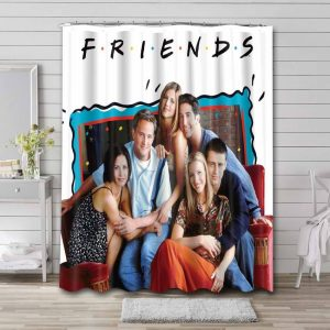 Friends TV Shows Shower Curtain Waterproof Polyester