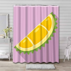 Durian Shower Curtain Bathroom Decoration Waterproof Polyester Fabric.