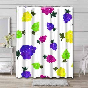 Colorful Grapes Shower Curtain Waterproof Polyester