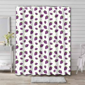 Grapes Pattern Shower Curtain Waterproof Polyester