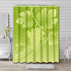 Grapes Shower Curtain Bathroom Decoration Waterproof Polyester Fabric.