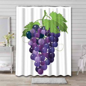 Purple Grapes Shower Curtain Waterproof Polyester