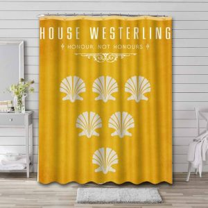 Game of Thrones House Westerling Shower Curtain Waterproof Polyester