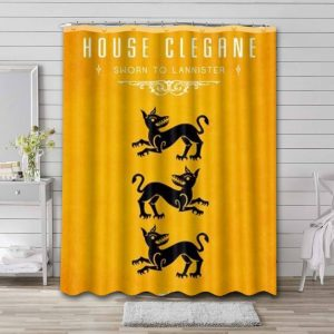 Game of Thrones House Clegane Shower Curtain Bathroom Decoration