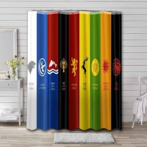 Game of Thrones Houses Sigils Shower Curtain Waterproof Polyester