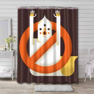 Ghostbusters Shower Curtain Bathroom Decoration Waterproof Polyester Fabric.