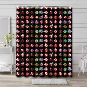 Ghostbusters Patterns Shower Curtain Waterproof Polyester