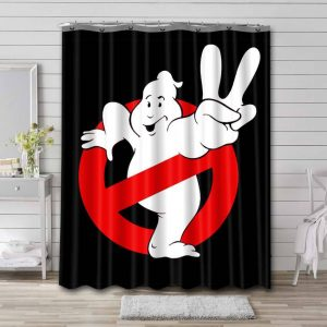 Ghostbusters Shower Curtain Waterproof Polyester