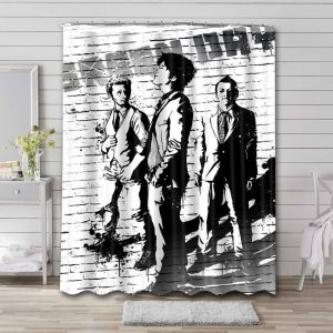 Green Day Rock Band Shower Curtain Waterproof Polyester