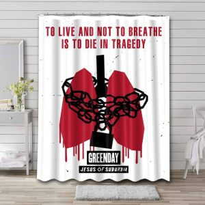 Green Day Jesus Of Suburbia Shower Curtain Waterproof Polyester