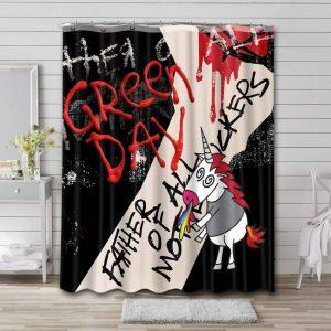 Green Day Father of All Waterproof Bathroom Shower Curtain