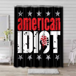 Green Day American Idiot Shower Curtain Waterproof Polyester