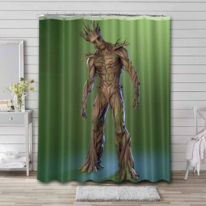 Groot Guardian Of The Galaxy Shower Curtain Bathroom Decoration