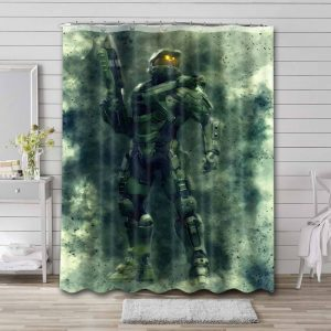 Halo Wars Master Chief Shower Curtain Waterproof Polyester