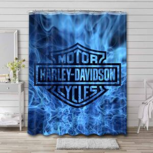 Harley Davidson Cycles Shower Curtain Waterproof Polyester