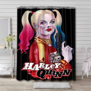 Harley Quinn Suicide Squad Shower Curtain Waterproof Polyester