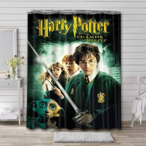 Harry Potter and the Chamber of Secrets Bathroom Shower Curtain Waterproof