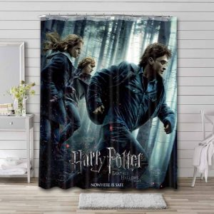 Harry Potter and the Deathly Hallows - Part 1 Bathroom Curtain Shower Waterproof