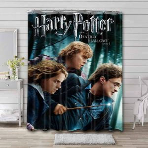 Harry Potter and the Deathly Hallows - Part 1 Waterproof Curtain Bathroom Shower