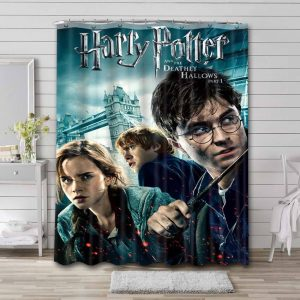 Harry Potter and the Deathly Hallows - Part 1 Shower Curtain Bathroom Waterproof