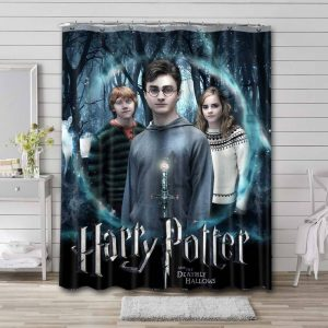 Harry Potter and the Deathly Hallows - Part 1 Shower Curtain Bathroom Decoration