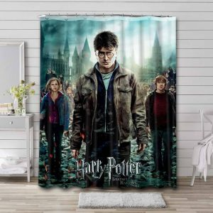 Harry Potter and the Deathly Hallows - Part 2 Shower Curtain Waterproof Polyester