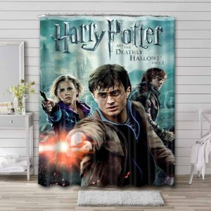 Harry Potter and the Deathly Hallows - Part 2 Bathroom Shower Curtain Waterproof