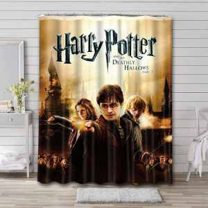 Harry Potter and the Deathly Hallows - Part 2 Waterproof Shower Curtain Bathroom