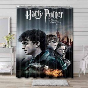 Harry Potter and the Deathly Hallows - Part 2 Waterproof Bathroom Shower Curtain