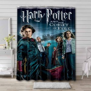 Harry Potter and the Goblet of Fire Bathroom Curtain Shower Waterproof