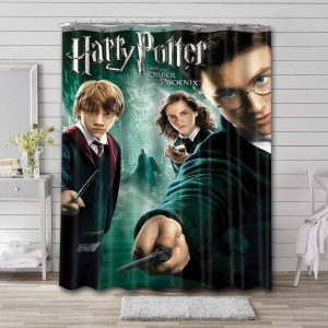 Harry Potter and the Order of the Phoenix Bathroom Curtain Shower Waterproof
