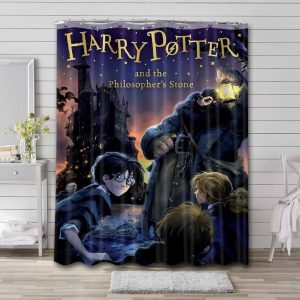 Harry Potter and the Philosopher's Stone Shower Curtain Bathroom Waterproof