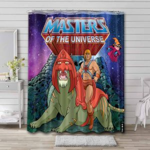 He-Man and the Masters of the Universe Comic Waterproof Shower Curtain Bathroom
