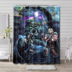 He-Man and the Masters of the Universe Cartoon Waterproof Bathroom Shower Curtain