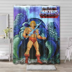 He-Man and the Masters of the Universe Cartoon Bathroom Curtain Shower Waterproof