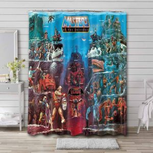 He-Man and the Masters of the Universe Waterproof Curtain Bathroom Shower