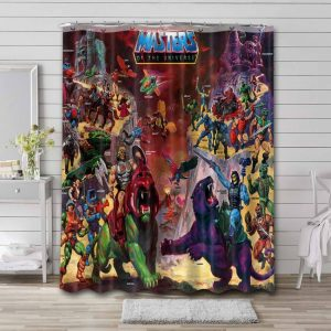 He-Man and the Masters of the Universe Characters Shower Curtain Bathroom Waterproof