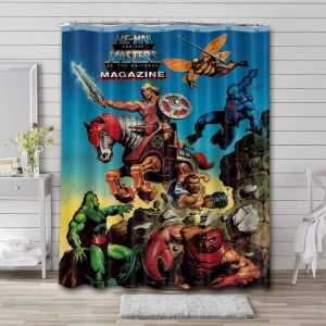 He-Man and the Masters of the Universe Characters Shower Curtain Bathroom Decoration