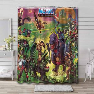 He-Man and the Masters of the Universe Characters Shower Curtain Waterproof Polyester